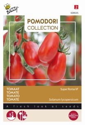 Tomaat Super Roma VF, zeer vlezig voor soep en pasta