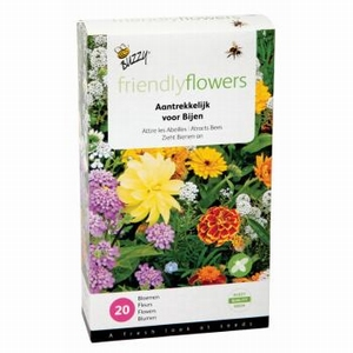 Mix voor bijen,  mengsel van 20 soorten bloemen, 20-35cm