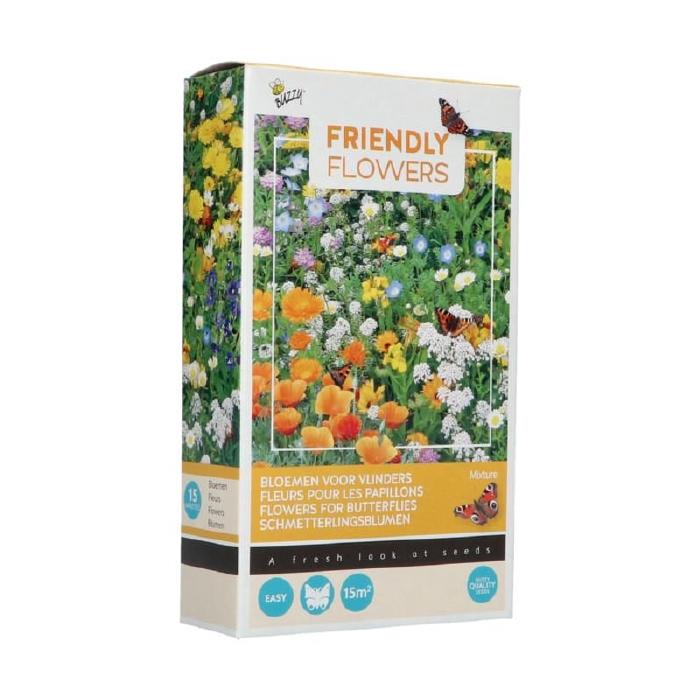 Mix voor vlinders,  lang bloeiend, met 15 soorten bloemen