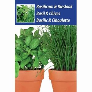 Keukenkruiden Basilicum/Bieslook weggeef zakje