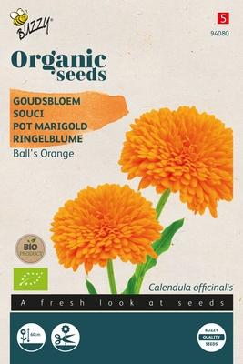 Bio Organic Calendula, Goudsbloem Ball's Orange (BIO)