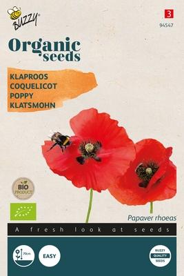 Bio Organic Papaver rhoeas Red  (BIO)