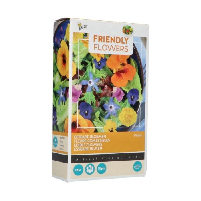 Mix voor eetbare bloemen, mengsel van 7 soorten