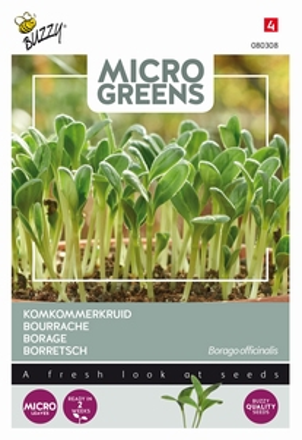 Microgreens Borage komkommerkruid   NIEUW